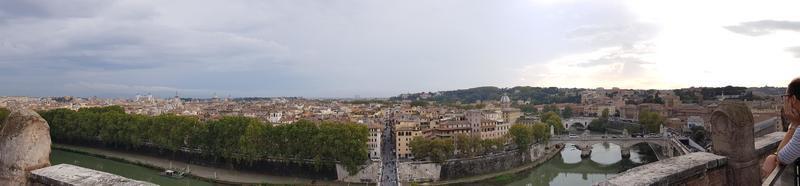 panoramisch uitzicht over rome, italië