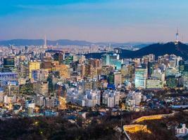 uitzicht op de stad seoul, zuid-korea foto