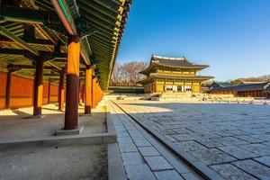 changdeokgung-paleis in de stad van seoel, zuid-korea foto