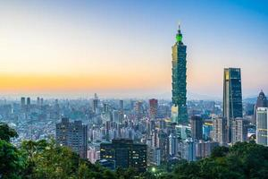 stadsgezicht van taipei, taiwan