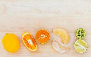 biologische citrusvruchten foto