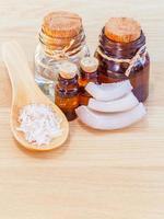etherische oliën en zout foto