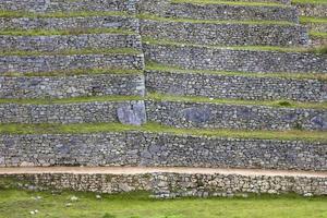 groene stenen terrassen foto