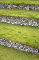 groene terrassen in peru foto