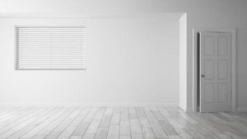 interieur lege ruimte in 3D-rendering