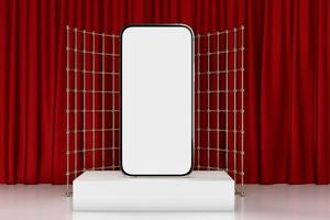 mobiele smartphone, celtelefoonmodel voor mobiele 3d toepassing, geeft terug foto