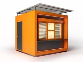 modern design winkelcabine in 3D-rendering