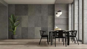 minimalistisch interieur van een moderne woonkamer in 3D-rendering