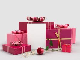 gelukkige Valentijnsdag 3D render decoraties foto