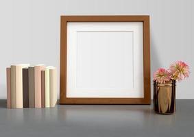 mockup posterframe met huisdecoratie foto