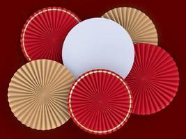 papieren ventilator medaillon 3D-kaartmodel foto