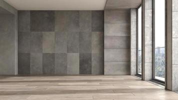 lege moderne interieur kamer in 3d illustratie