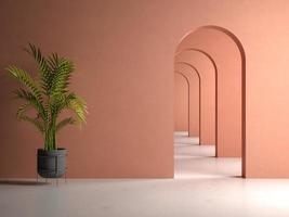conceptuele interieur kamer in 3d illustratie foto