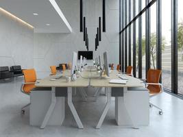 interieur modern open ruimte kantoor in 3d illustratie foto