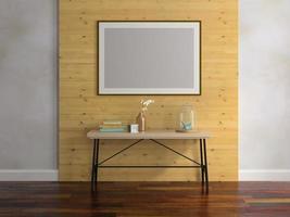 interieur van een moderne kamer in 3d illustratie foto