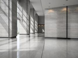 interieur van de receptie van een hotellobby in 3d illustratie