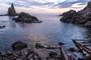 maritiem zonsonderganglandschap foto