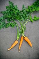 wortelen op een grijze achtergrond