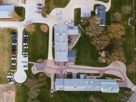 usa 2020- luchtfoto van een modern boerderijcomplex foto