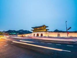 gyeongbokgung paleisoriëntatiepunt van de stad van seoel in zuid-korea