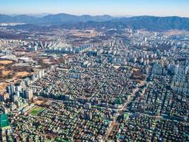 luchtfoto van seoul city, zuid-korea