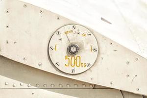 details over de romp van de helikopter foto
