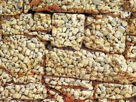 detail van outdoor stenen muur voor achtergrond of textuur