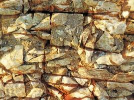 detail van outdoor stenen muur voor achtergrond of textuur foto