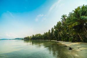 paradijselijk eiland met strand en zee foto