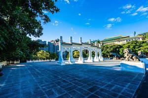 poort bij het taipei national palace museum in taipei city, taiwan foto