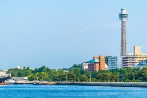 yokohama mariene toren in de stad van yokohama, japan foto