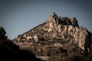 st. hilarion kasteelruïne in het district Kyrenia, Cyprus foto