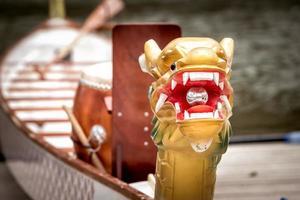 2018 - close-up hoofd van drakenboot foto