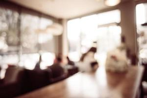 onscherpe coffeeshop en restaurantachtergrond