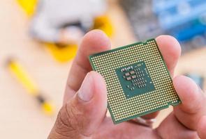 close-up van een computerdeel foto