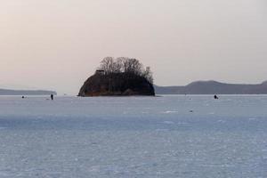 Papenberg-eiland in Vladivostok, Rusland foto