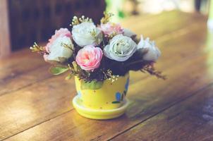 bloemen in een pot