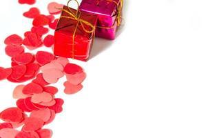 harten en cadeautjes foto