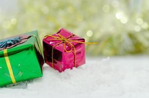 glanzende geschenkdecoraties foto