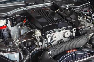 close-up van een automotor foto