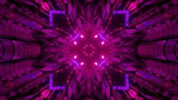 futuristisch geometrisch patroon met glanzende lichten 3d illustratie foto
