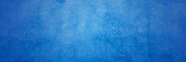 blauwe cementmuur voor textuur of achtergrond foto