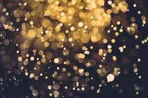 gouden bokeh abstract voor achtergrond foto