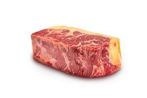 entrecote rundvlees brood geïsoleerd op een witte achtergrond foto