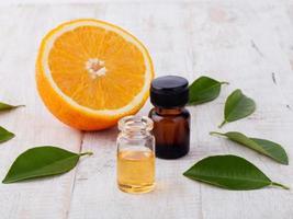 sinaasappel aromatherapie olie foto