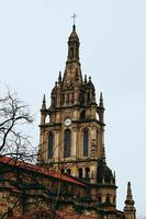 kerkarchitectuur in bilbao city, spanje foto