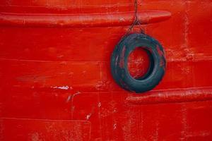 schip in de zeehaven foto
