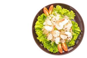 pittige salade met zeevruchtennoedels, Thaise stijl