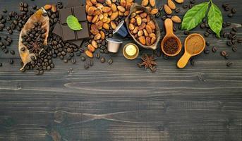 herfst koffie grens met kopie ruimte foto