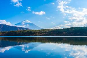 landschap op mt. fuji, yamanashi, japan foto